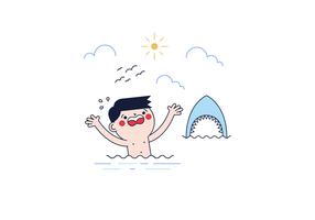Vetor livre de ataque de tubarão