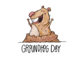 Ilustração Dia da Marmota vetor