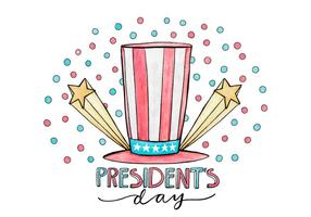 Ilustração do Dia do Presidente vetor