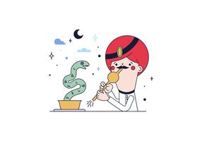 Vetor de encantamento de cobra grátis