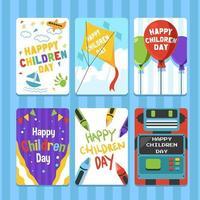 cartão do dia das crianças com alegria maravilhosa vetor