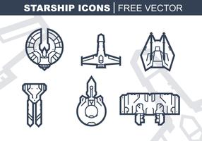 Starship Icons gratuito Pacote Vector