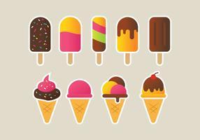 Conjunto de ícones de sorvete vetor