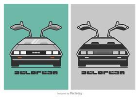 Livre de Ilustração DeLorean Vector