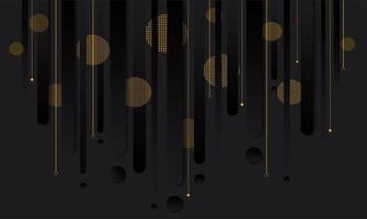 gradiente preto moderno e desenho geométrico dourado vetor