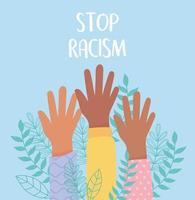Vidas negras importam e campanha de conscientização contra racismo vetor