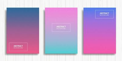 conjunto de cartões gradientes coloridos vetor