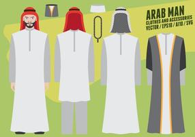 Árabes Man roupas e acessórios vetor