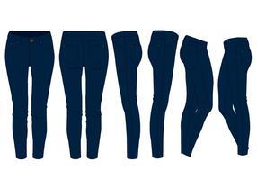 Meninas de calças de ganga vetor