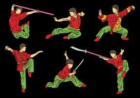 Free Vector Wushu Icons