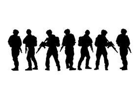 Vector Siluetas do exército