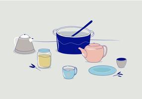 Ilustração Vector Cooking