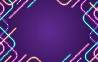 neon arredondado colorido abstrato vetor