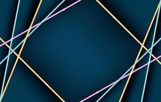 composição de luzes de néon geométricas brilhantes