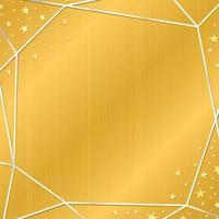textura dourada com moldura de prata e estrela vetor