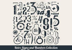 Números estampados Vector Colecção