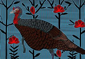 Wild Turkey Feminino vetor
