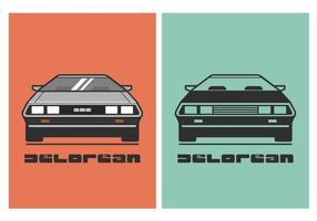 Livre de Ilustração Vector DeLorean Car