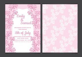 Convite do casamento delicado Vector