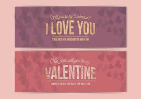 Bandeira do dia do vetor do Valentim