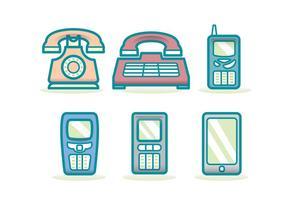 Tecnologia Telefone Evolução Ícone vetor