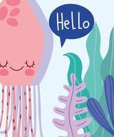 sob a água-viva do mar
