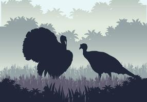 Wild Turkey época de caça vetor