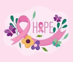 design do mês de conscientização do câncer de mama vetor