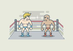Ilustração Wrestling livre vetor