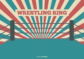 Plano Estilo Ilustração Wrestling Anel vetor