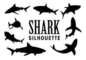 Vector tubarão silhuetas