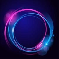 círculo de néon abstrato vetor