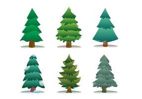Sapin Árvore Icon Set vetor