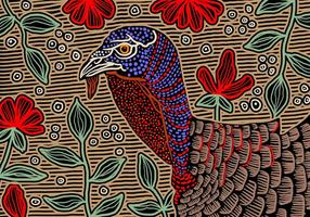 Background Wild Turkey Abstract vetor