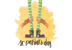 Ilustração da aguarela do Dia de Saint Patrick
