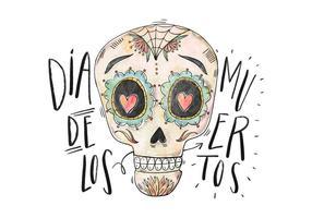 Diâmetro De Los Muertos Ilustração vetor
