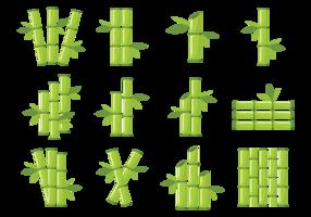 Ícones de bambu Vector
