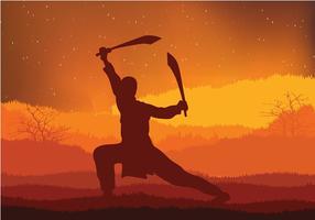Wushu Noite Formação Vector grátis