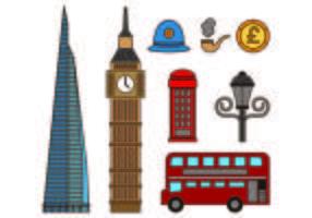 Jogo de ícones de Londres vetor