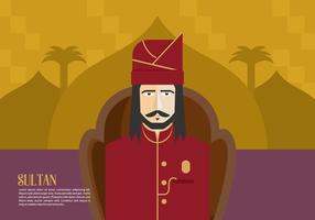 Background Sultan vetor