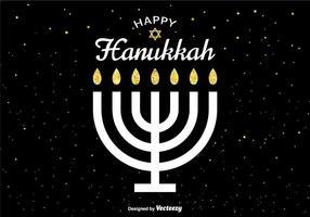 Vector cartão feliz de Hanukkah