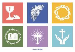 Santo Coleção Ícone Semana vetor