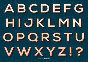 Coleção retro do alfabeto vetor