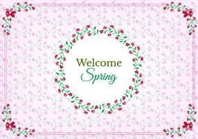 Free Vector quadros com padrão floral