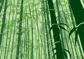 Fundo de bambu Ângulo sapo Vector grátis