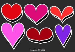 Vector etiquetas do coração