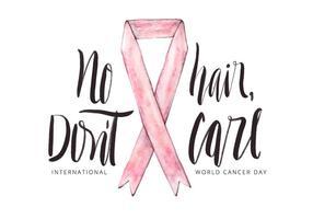 Citar Dia Mundial do Câncer vetor