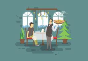 Jantar Ilustração Paella livre vetor
