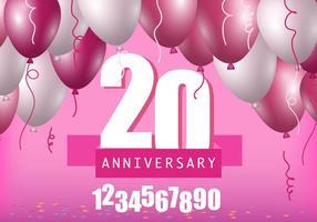 Template aniversário vetor