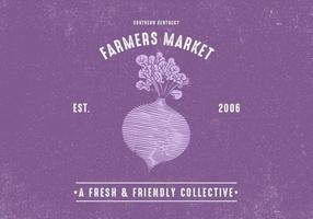 Os agricultores design retro Mercado vetor